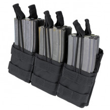 Condor Triple Stacker Open-Top M4/M16 Mag Pouch - Black - Magazines NOT included.
