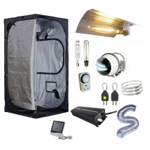 Mammoth Grow Tent Combo - 100 x 100 cm, 600W Electronic, Budget Wing Reflector