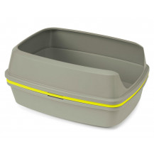 McMac Lift to Sift Litter Tray - Yellow and Warm Grey