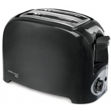 Mellerware Eco 2 Slice Plastic Toaster - 750W, Black
