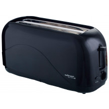 Mellerware Eco 4 Slice Plastic Toaster - 1300W, Black