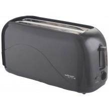 Mellerware Eco 4 Slice Plastic Toaster - 1300W, Graphite
