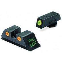 Meprolight Glock Tru-Dot Night Sight (Glock 9mm, .357 Sig, .40 S&W . 45) (Green & Orange)