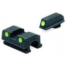 Meprolight Walther Tru-Dot Night Sight (TD P-99 9mm .40 & .45 compact fixed set) (Green)