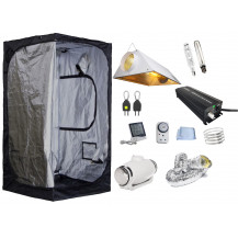 Mammoth Stealth Grow Tent Combo - 120 x 120 cm, 600W Ballast, Air-cooled Reflector