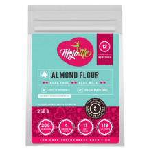 MojoMe Low-Carb Almond Flour - 250g, 6 Pack - Front View