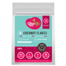 MojoMe Low-Carb Coconut Flakes - 200g, 6 Pack - Front View