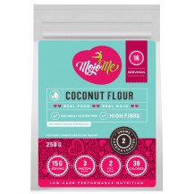 MojoMe Low-Carb Coconut Flour - 250g, 6 Pack - Front View