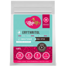 MojoMe Low-Carb Erythritol Stix Sweetener - 150g (30x5g), 6 Pack - Front View