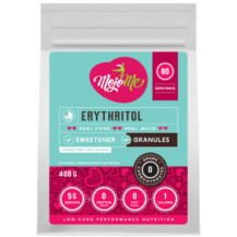 MojoMe Low-Carb Erythritol Granules Sweetener - 400g, 6 Pack - Front View