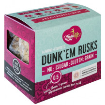 MojoMe Low-Carb Ready-To-Eat Dunk'Em Rusks - 250g, 6 Pack - Front View
