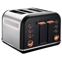 Morphy Richards Accents Rose Gold Toaster - Black