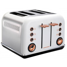 Morphy Richards Accents Rose Gold Toaster - White