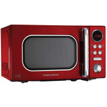 Morphy Richards Accents Stainless Steel Microwave - 800W, Red