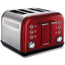 Morphy Richards Accents Stainless Steel Toaster - Red