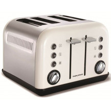 Morphy Richards Accents Stainless Steel Toaster - White
