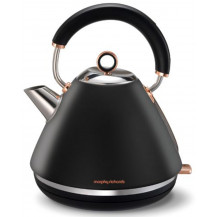Morphy Richards Brushed Rose Gold Accents Kettle - Black