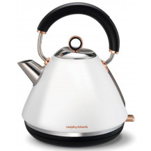 Morphy Richards Brushed Rose Gold Accents Kettle - White