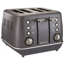 Morphy Richards Evoke Stainless Steel Toaster - 4 Slice, Blue