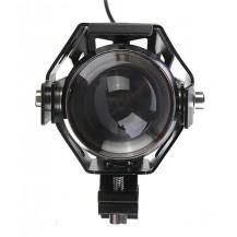 Lumeno U5 Motorcycle Spot Light - 3000 Lumen / 200m, Black - Front