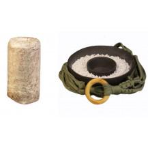 Mushroom Network Earthy Green Macrame Fruiting Chamber - Black Base, Chestnut Mushroom