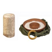 Mushroom Network Macrame Fruiting Chamber Kit - Earthy Green, Terracotta Base, Chestnut Mushroom
