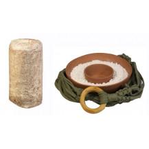 Mushroom Network Macrame Fruiting Chamber Kit - Earthy Green, Terracotta Base, Brown Oyster