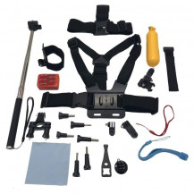 23 Piece Essential Started Kit Bundle for GoPro