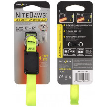 Nite Ize Nitedawg LED Safety Dog Collar - XSmall, Neon Yellow