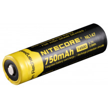 Nitecore 14500 Li-Ion Rechargeable Battery 750 mAh