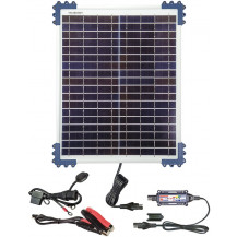 TecMate Solar Panel & Charge Controller & Monitor - 20W, 1.66A
