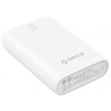Orico M6 Power Bank - 6000mAh, White