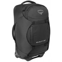 Osprey Sojourn 60L Convertible Wheeled Travel Backpack - Flash Black Side View