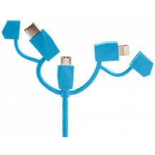 Outdoor Tech Calamari 2.0 3 in 1 Charge Cable - Electric Blue
