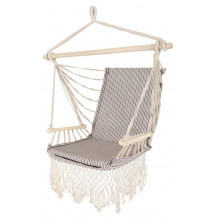 Oztrail Brazilian Padded Hammock Chair with Arms - Beige/Navy
