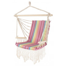 Oztrail Brazilian Padded Hammock Chair with Arms - Rainbow