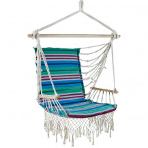 Oztrail Brazilian Padded Hammock Chair with Arms - Turquoise