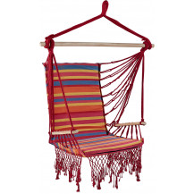 Oztrail Brazilian Padded Hammock Chair with Arms - Orange