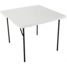 Oztrail Fold In Half Blow Mould Square Table - 3 inch