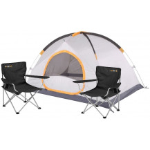 Oztrail Camping Combo - Oztrail Vertex 3 Person Tent + Oztrail Classic Armchair x2