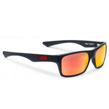 Pelagic Fish Taco Polarized Polycarbonate Lens Sunglasses - Sunrise, Matte Black