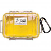 Pelican 1010 Micro Case with Liner - Yellow/Clear