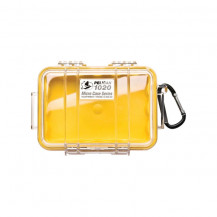 Pelican 1020 Micro Case with Liner Yellow/Clear