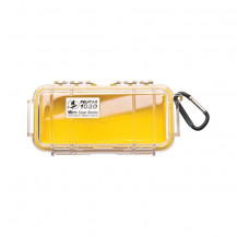 Pelican 1030 Micro Case with Liner - Yellow/Clear