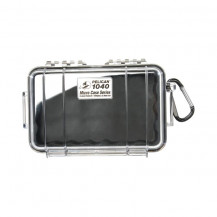 Pelican 1040 Micro Case with Liner - Black/Clear
