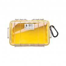 Pelican 1050 Micro Case with Liner - Yellow/Clear