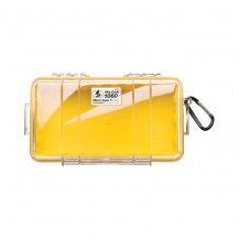Pelican 1060 Micro Case with Liner - Yellow/Clear