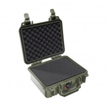 Pelican 1200 Case with Foam (Olive Drab Green) - Open