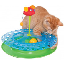 Petstages Cheese Chase Cat Toy In Use