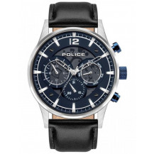 Police Driver Multifunctional Watch - Gents, Black/Blue